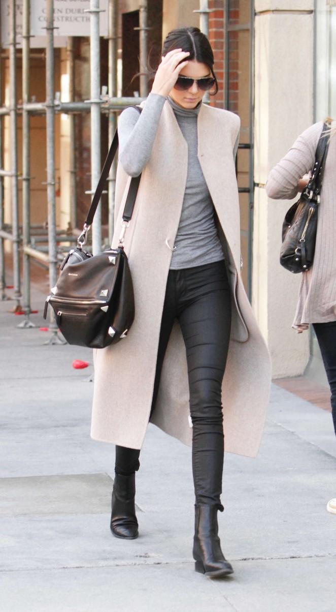 Kendall Jenner 2015 : Kendall Jenner in Black Tight Pants -08