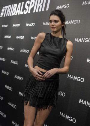 Kendall Jenner- Tribal Spirit By Mango Photocall in Barcelona