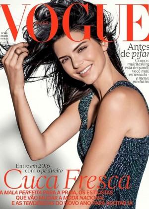 Kendall Jenner - Vogue Brazil Cover (January 2016)