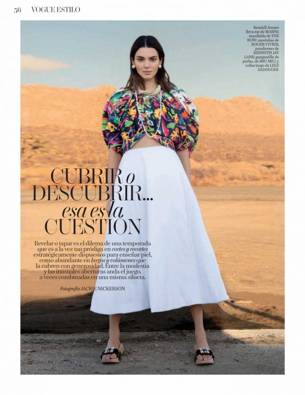 Kendall Jenner - Vogue Espana Magazine (April 2020)