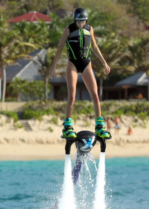 Kendall Jenner in Black Swimsuit -03