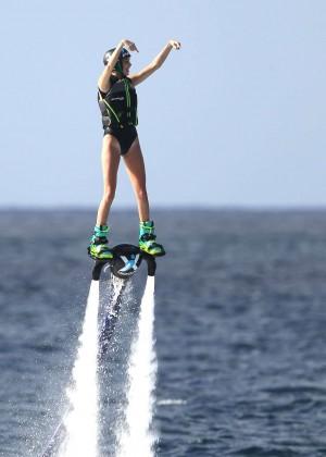 Kendall Jenner in Black Swimsuit -04