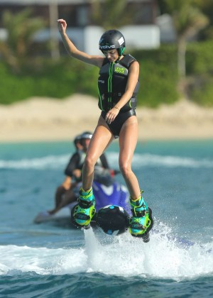 Kendall Jenner in Black Swimsuit -06