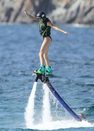 Kendall Jenner in Black Swimsuit -08