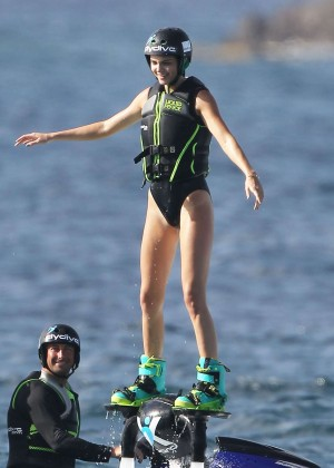 Kendall Jenner in Black Swimsuit -11