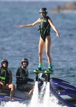 Kendall Jenner in Black Swimsuit -14