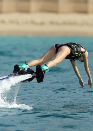 Kendall Jenner in Black Swimsuit -15