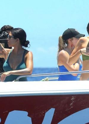Kendall Jenner in Black Swimsuit -16