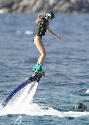 Kendall Jenner in Black Swimsuit -18