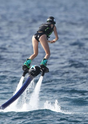 Kendall Jenner in Black Swimsuit -19