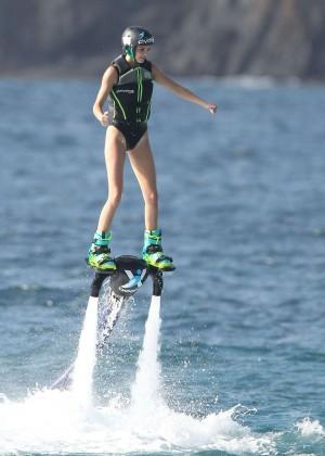 Kendall Jenner in Black Swimsuit -22