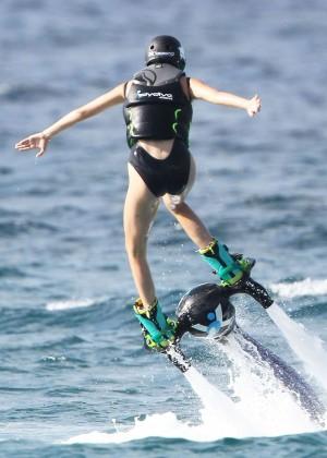 Kendall Jenner in Black Swimsuit -24