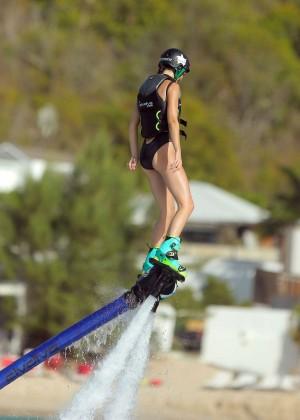 Kendall Jenner in Black Swimsuit -25