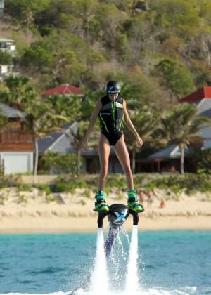 Kendall Jenner in Black Swimsuit -26
