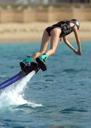Kendall Jenner in Black Swimsuit -29