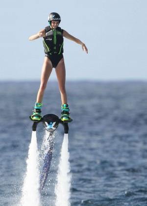 Kendall Jenner in Black Swimsuit -30