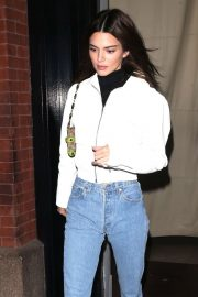 Kendall Jenner - Wearing blue jeans in NY