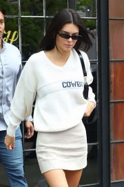 Kendall Jenner - Wears a Cowboys Sweater in NYC