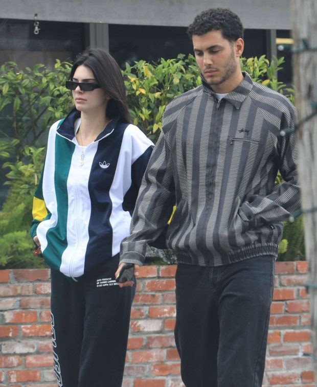 Kendall Jenner with Fai Khadra out in Bel-Air