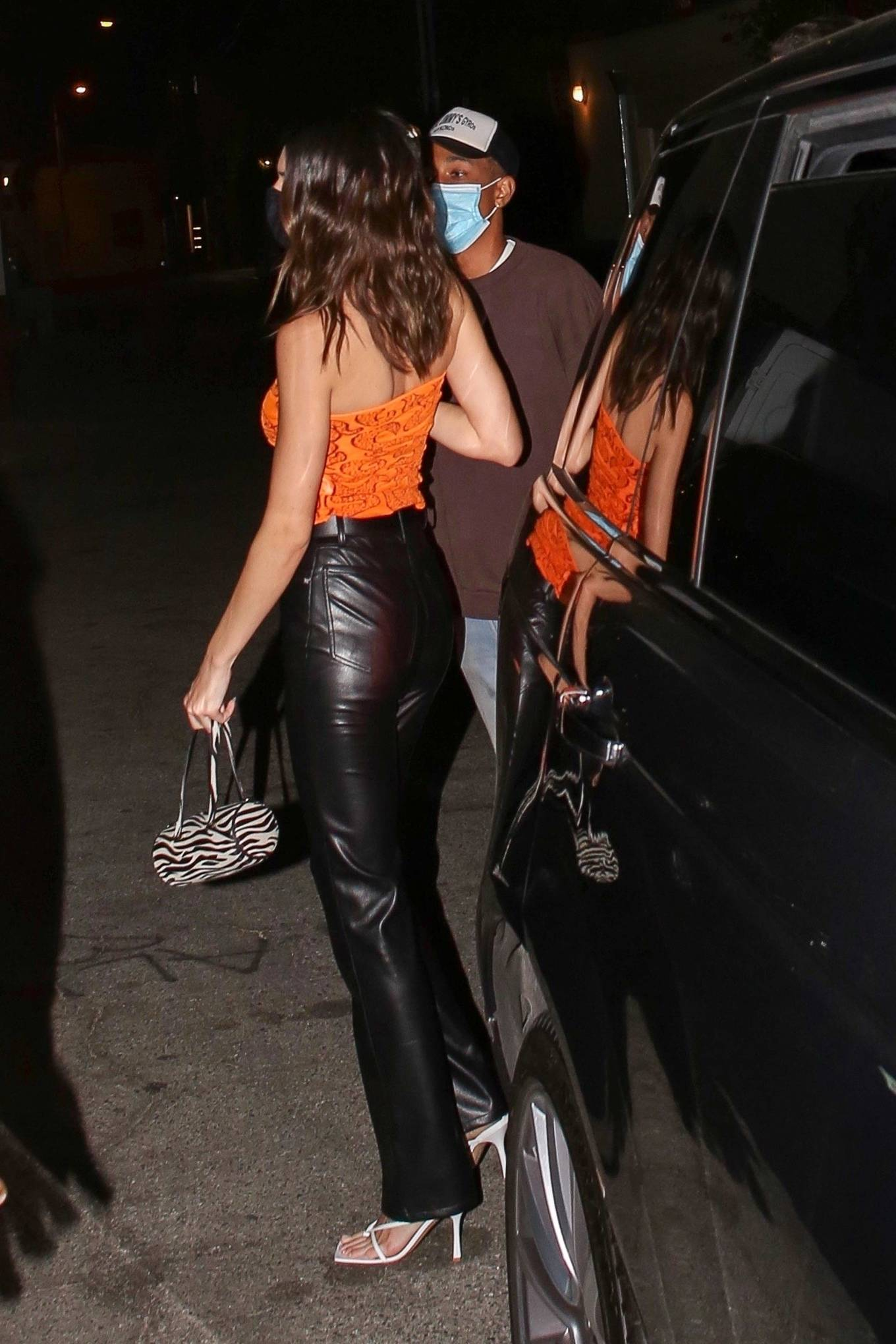 Kendall Jenner 2021 : Kendall Jenner – With friends at Craigs in West Hollywood-09