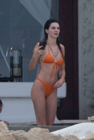 Kendall Jenner - With Hailey Bieber spotted in a bikinis in Cabo San Lucas