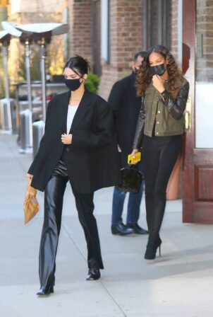 Kendall Jenner - With Joan Smalls at Greenwich Hotel in New York