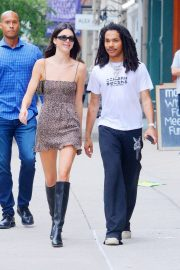 Kendall Jenner with Luka Sabbat - Seen at 'What Goes Around Comes Around' in NYC