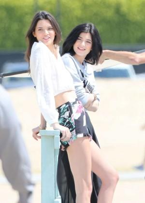 Kendall & Kylie Jenner - Photoshoot in Malibu