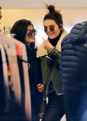 Kendall & Kylie Jenner Shopping at OVADIA & SONS in New York