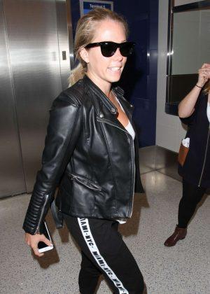 Kendra Wilkinson Arriving at Los Angeles International Airport