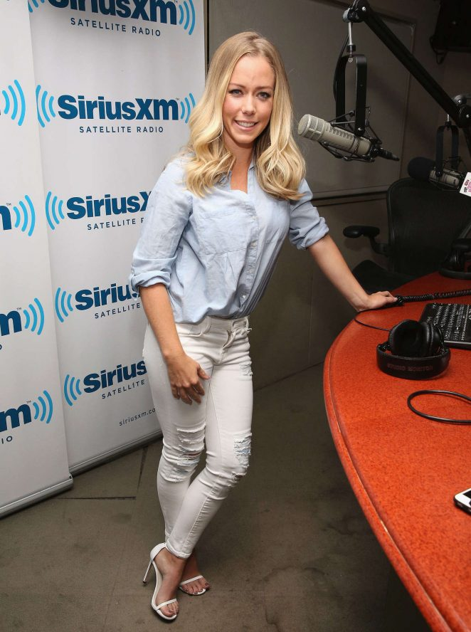 Kendra Wilkinson at SiriusXM in New York