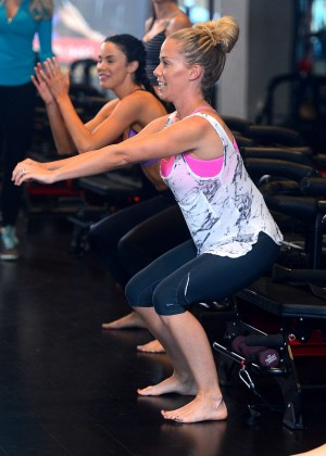 Kendra Wilkinson in a Gym in West Hollywood