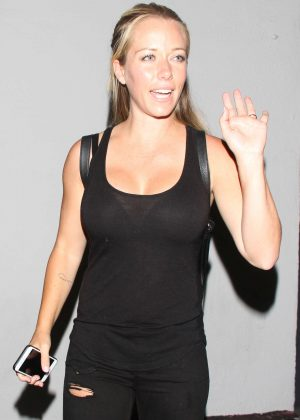 Kendra Wilkinson in Black at Warwick nightclub in Hollywood