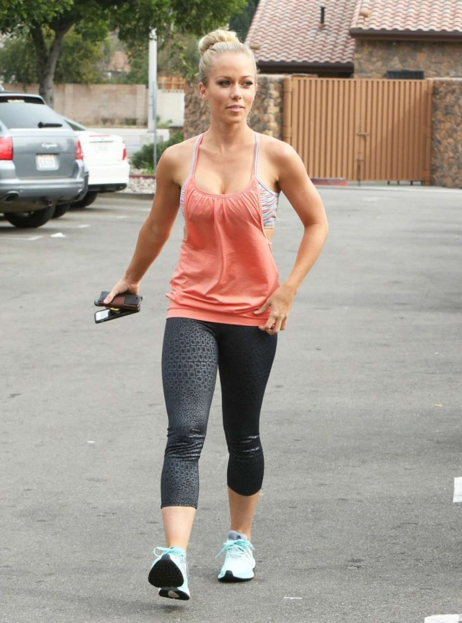 Kendra Wilkinson in Leggings at Walmart in CA