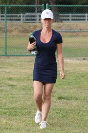 Kendra Wilkinson in Mini Dress - Out in LA