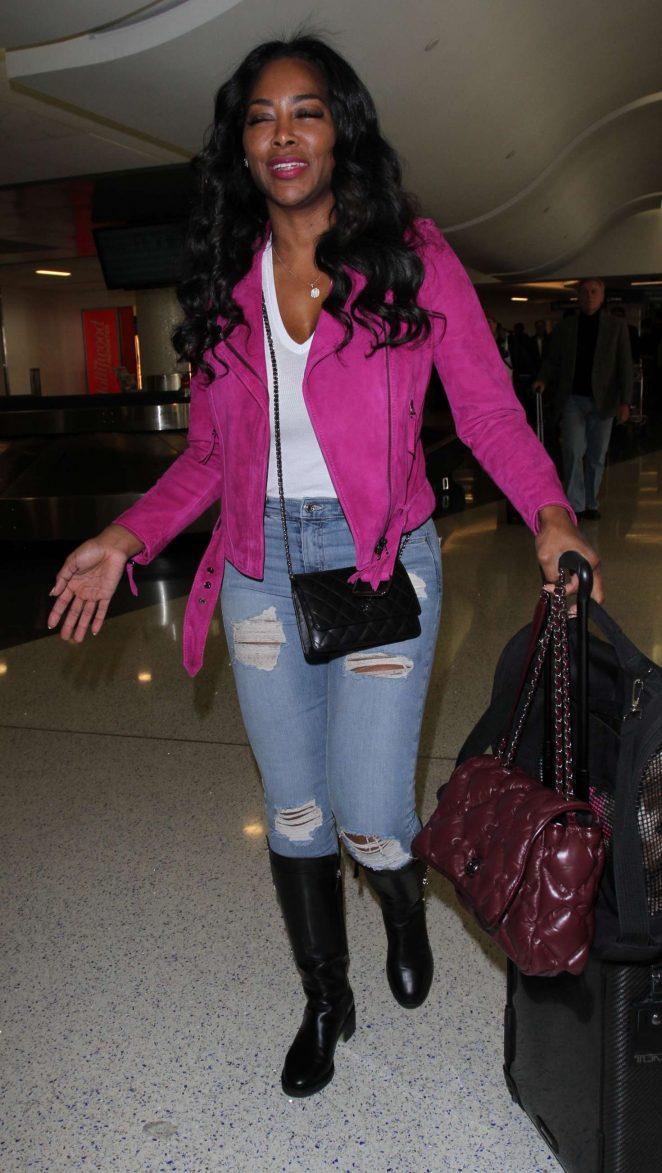 Kenya Moore at Los Angeles International Airport