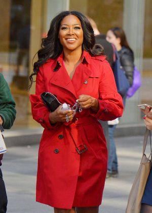 Kenya Moore out in Manhattan