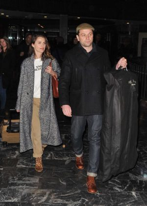 Keri Russell and husband Matthew Rhys - Arrives in Washington
