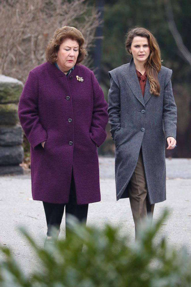 Keri Russell and Margo Martindale on the set of 'The Americans' in New York City