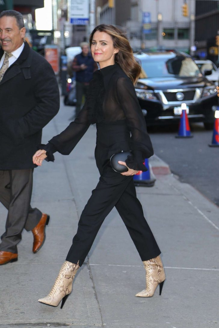 Keri Russell: Arrives at The Late Show with Stephen Colbert -01