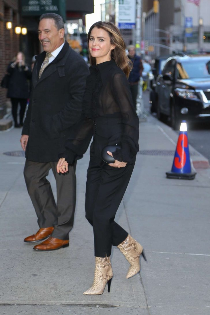 Keri Russell: Arrives at The Late Show with Stephen Colbert -02