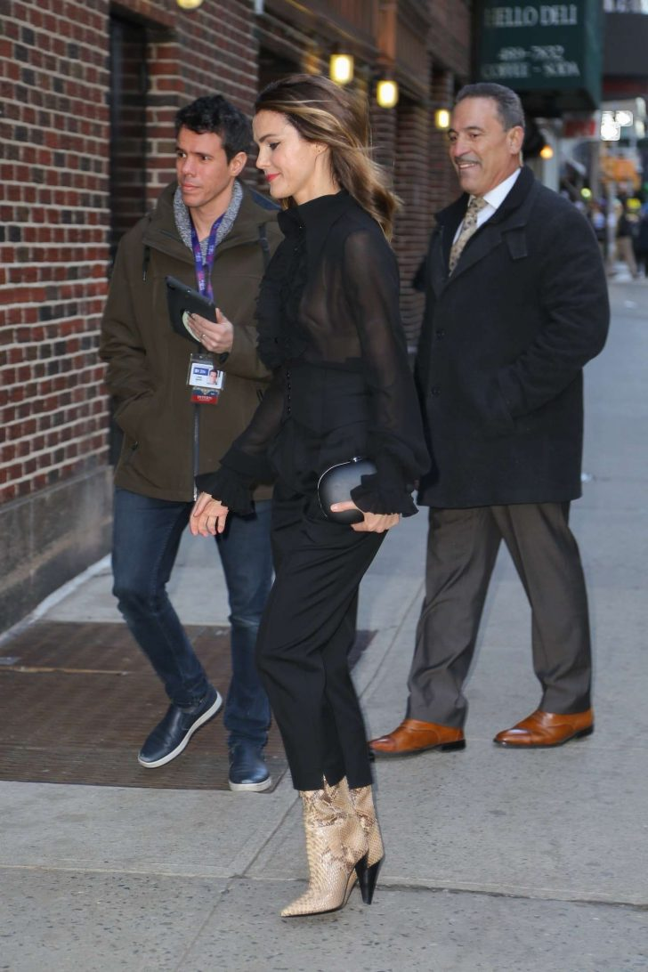 Keri Russell: Arrives at The Late Show with Stephen Colbert -04