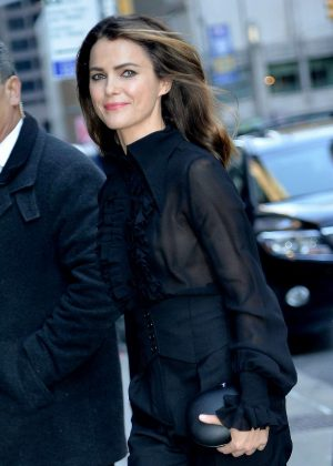 Keri Russell - Arrives at The Late Show with Stephen Colbert in New York