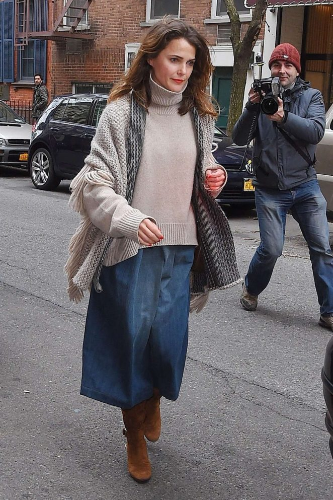 Keri Russell at Soho restaurant in New York