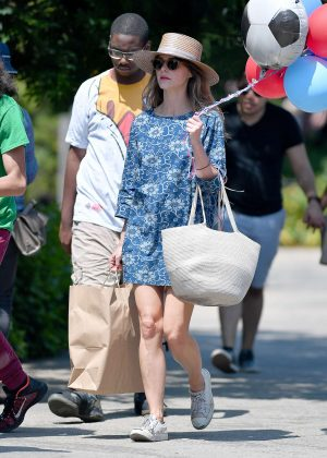 Keri Russell in Mini Dress out in Brooklyn