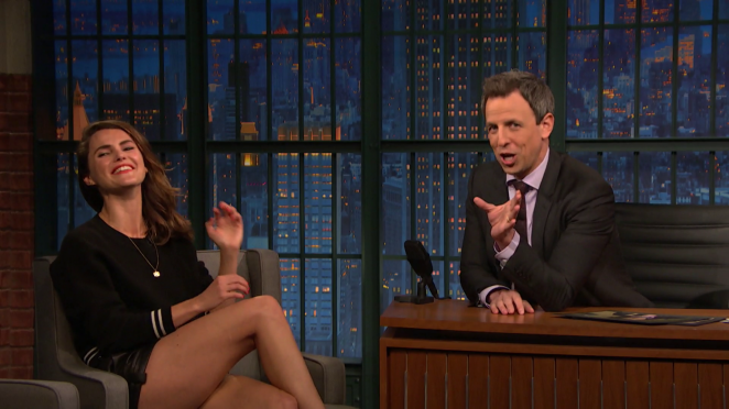 Keri Russell on 'Late Night with Seth Meyers' in New York City