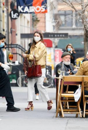 Keri Russell - Out for lunch at Il Buco Italian restaurant in New York