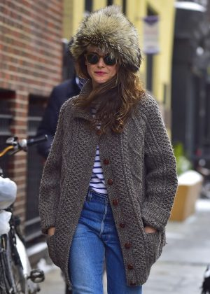 Keri Russell out in New York
