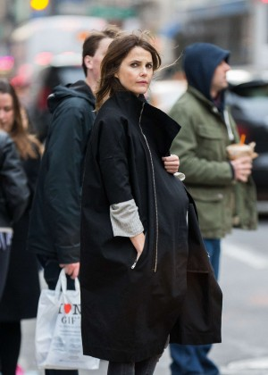 Keri Russell out in SoHo