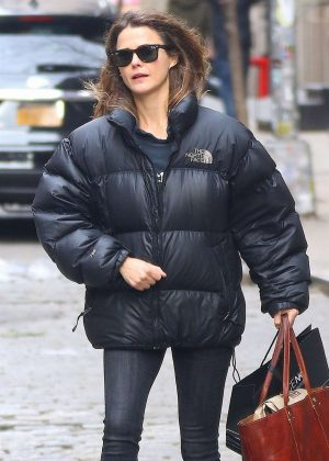 Keri Russell - Shopping at Space NK in NYC